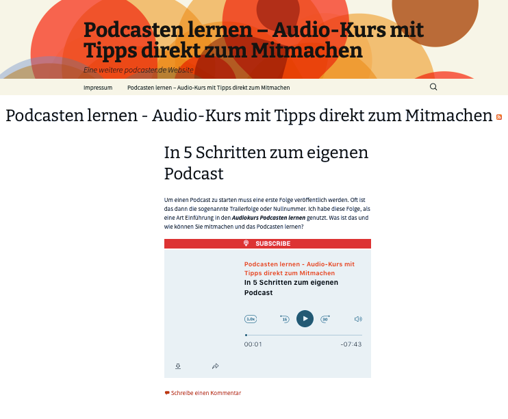podcaster.de-Blog
